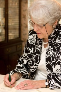 Senior Woman Writing Letter